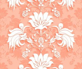 Flower silhouette decorative background vector
