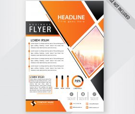 Flyer template black and yellow vector