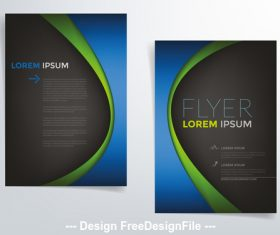 Flyer cover vector