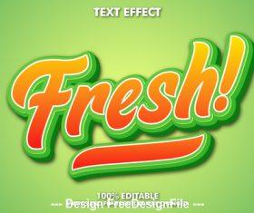 Fnesh editable font effect text vector
