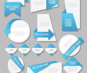 Folded corner promotional label vector