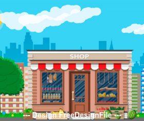 Food store vector