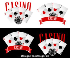 Four Aces playing cards icon vector