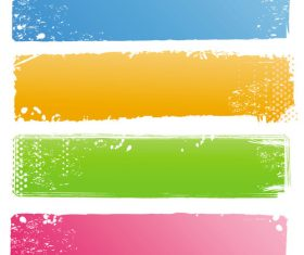 Four color banner vector