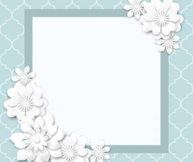 Frame flower decoration background vector