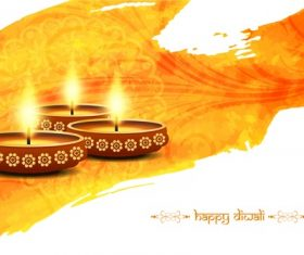 Free bright candlestick diwali vector