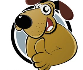Funny dog portrait vector