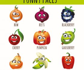 Funny faces icon vector