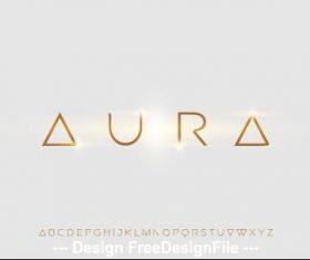 Futuristic alphabet font design vector