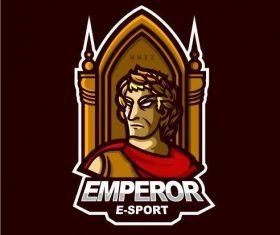 Gaming logo emperor vector