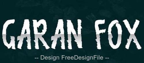 Garan Fox Demo Fonts