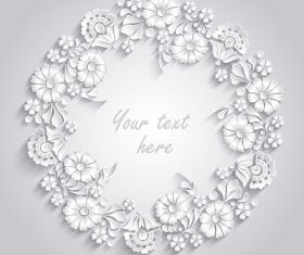 Garland paper cut background vector