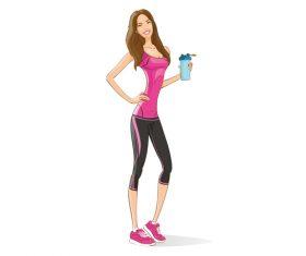 Girl in good shape vector