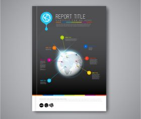 Global positioning brochure cover vector