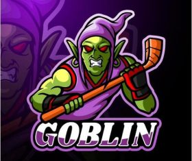 Goblin logo design vector