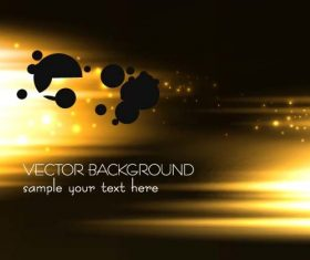 Golden light and black background vector