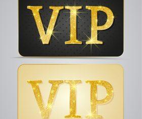 Golden shiny VIP card vector