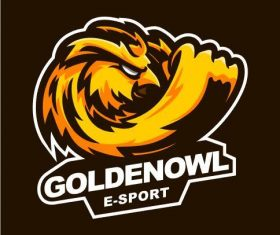 Goldenowl gaming logo vector