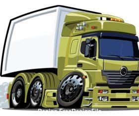 Grass green truck vector