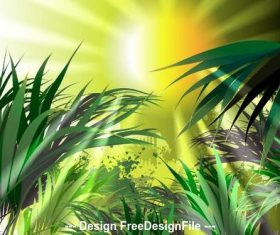 Grass nature background vector