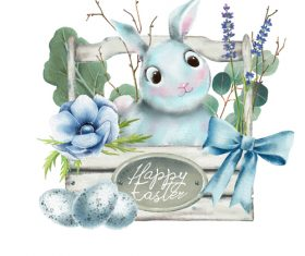 Happy easter cartoon illustration vector