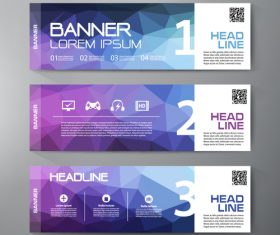 Head line banner template vector