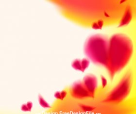 Heart shaped abstract background vector