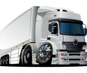 Heavy transport truck vector