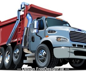 Heavy transport vehicle vector