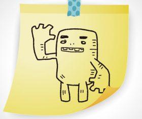 Hi creative doodle vector