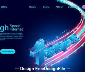 High speed internet concept banner vector