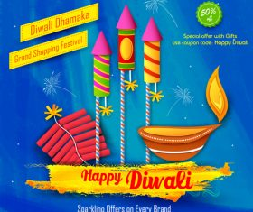 Holiday background diwali vector