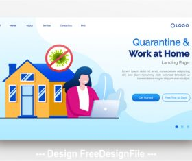 Home office flat illustration vector