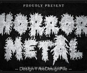 Horror Metal Fonts