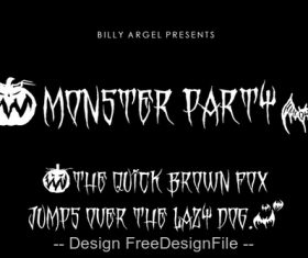 Horror Monster Party Fonts