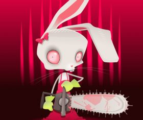 Horror bunny vector