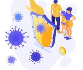 How to protect against coronavirus illustration vector