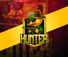 Hunter gaming logo vector