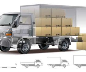 Hyundai porter box vector