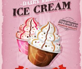 Ice cream snack poster vector