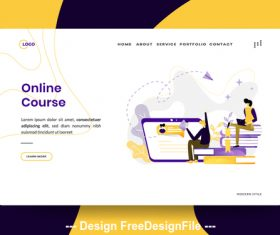 Illustration Online Course vector
