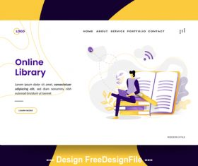 Illustration Online Library vector
