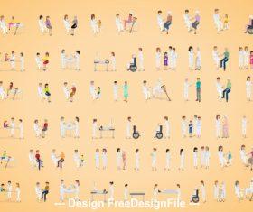 Illustration hospital nurse vector