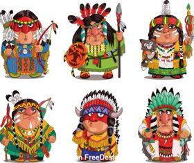 Indians characters comics vector
