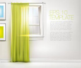 Indoor curtain vector