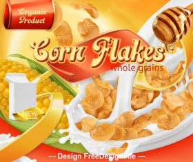 Instant cornflakes poster vector