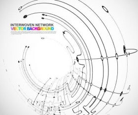 Interwoven network abstract background vector