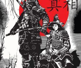 Japan culture illustration vector