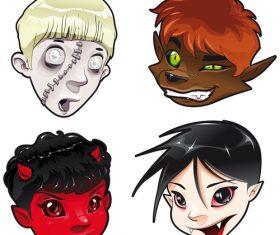 Kids zombie vector