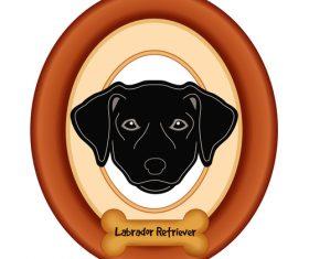 Labrador black portrait vector